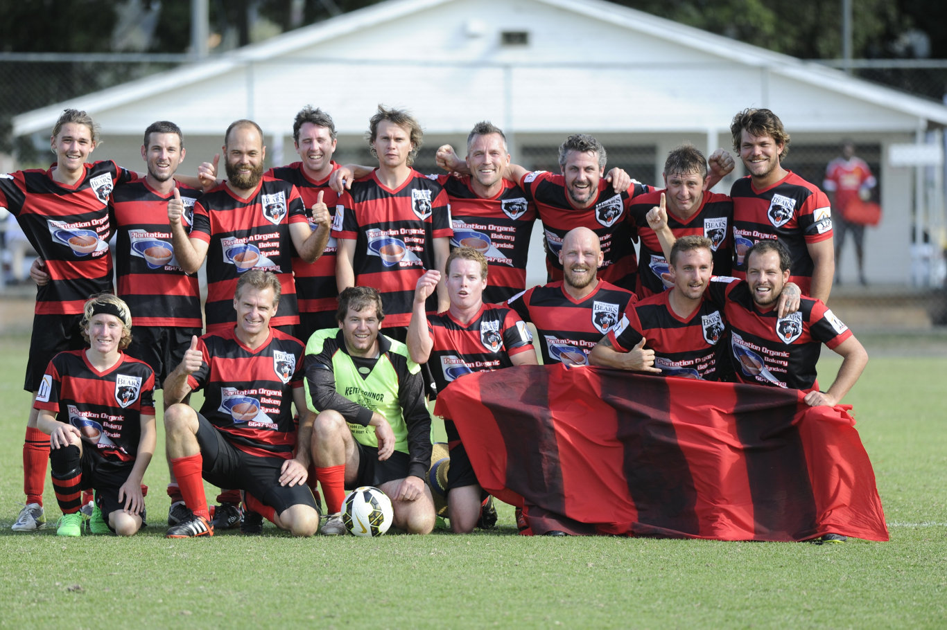 Tucabia-Wooli Bears (renamed Yuraygir Bears in 2016) won the North Coast Football 3rd Division grand final against Maclean Bobcats at Rushforth Park South Grafton on Saturday, 5th September, 2015. Several members of the team are Minnie Water residents with a close association to Mani Hart-Deville and his family. Photo Debrah Novak / The Daily Examiner