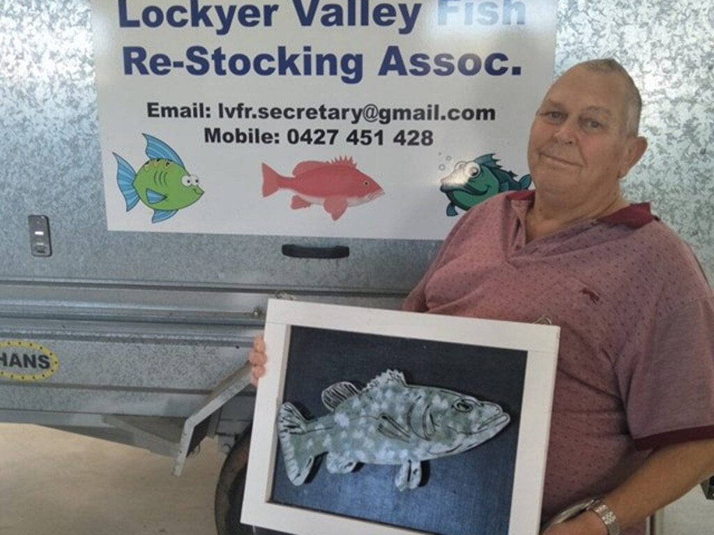 Kevin Balke was president of the Lockyer Valley Fish Restocking Association since he attended his first meeting eight years ago.