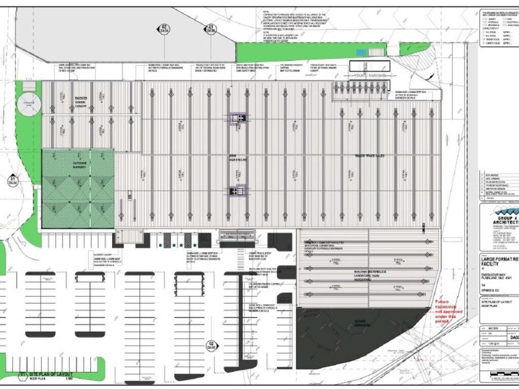 Carpark plans for Bunnings Plainland.