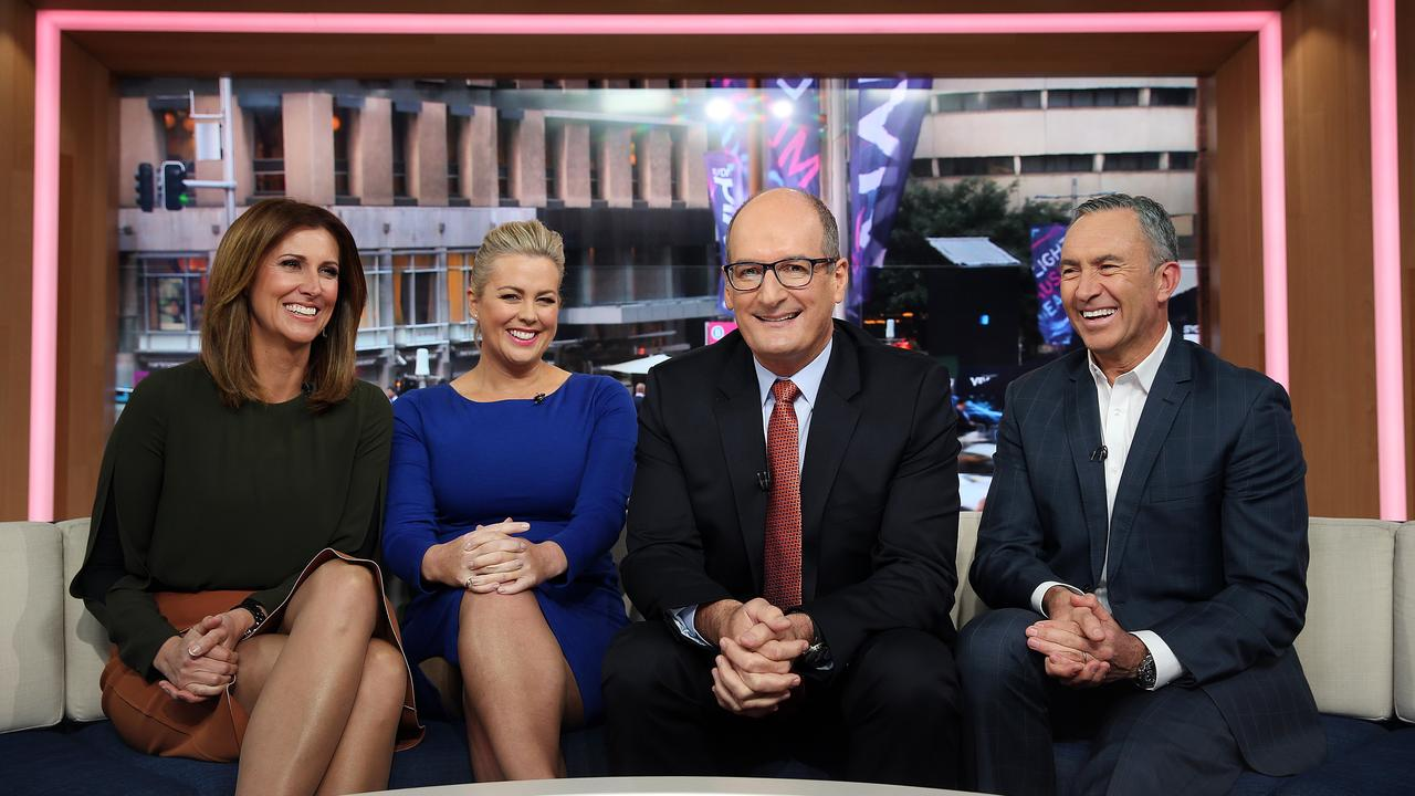 Sunrise hosts Natalie Barr, Samantha Armytage, David Koch and Mark Beretta