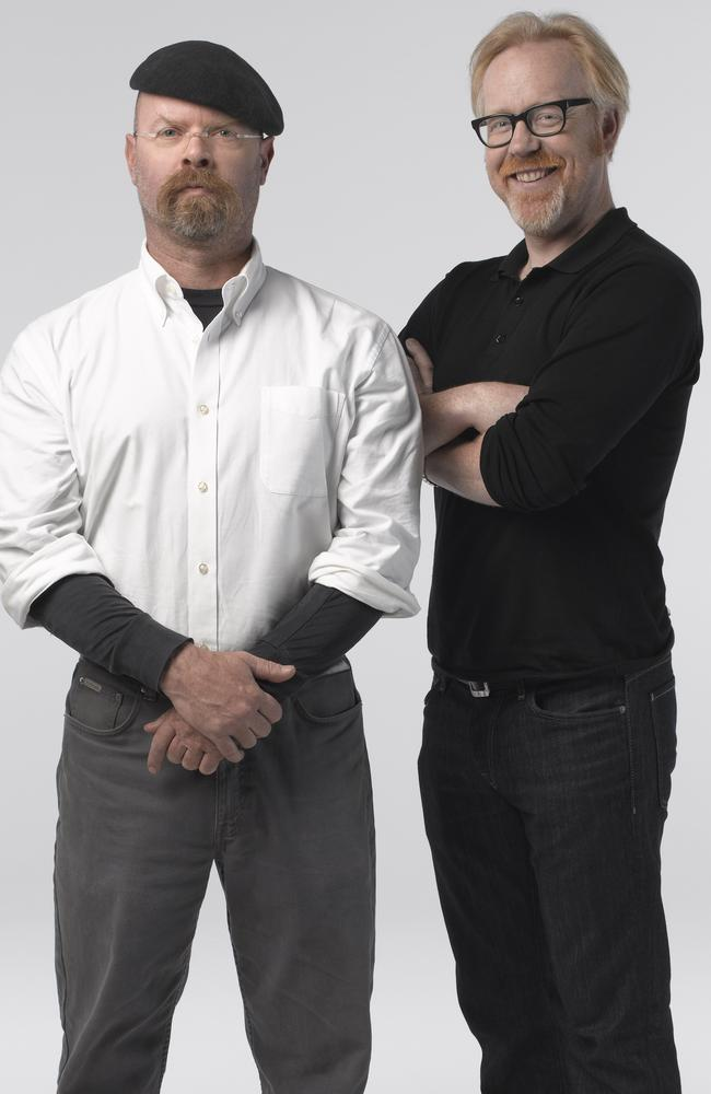 Former Mythbusters hosts Jamie Hyneman and Adam Savage. Picture: Robert Fujioka