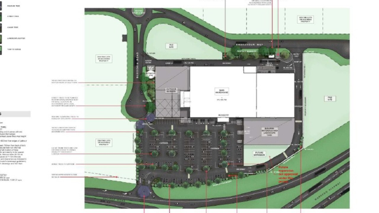 JUST THE BEGINNING: Detailed plans for Plainland Bunnings. Photo: Supplied