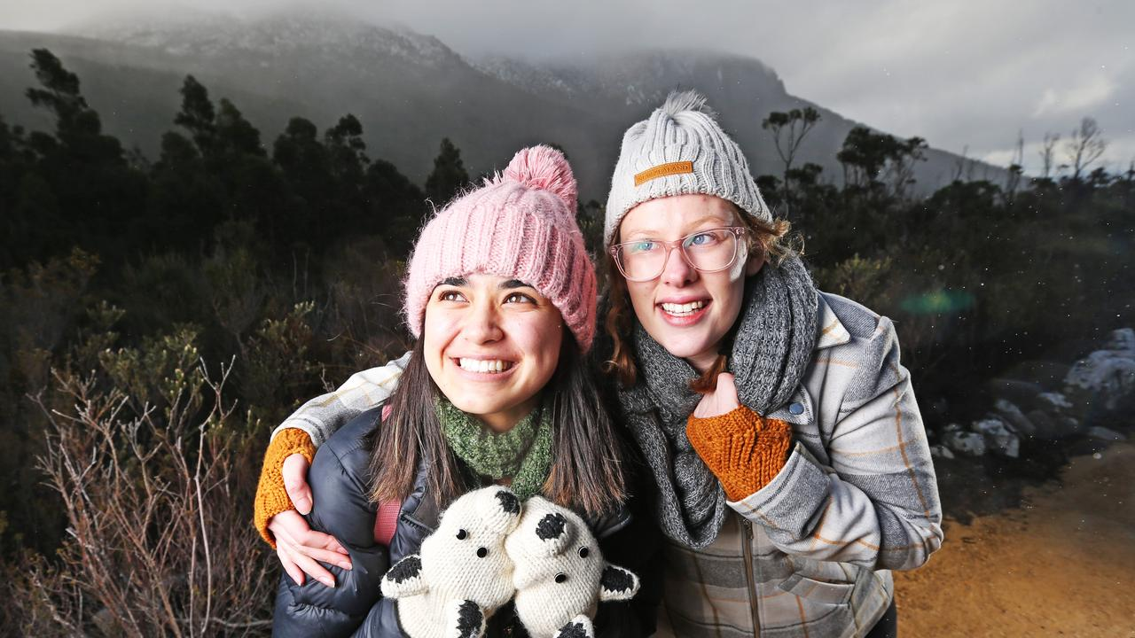 Sub-zero temperatures means winter clothing is finally acceptable in Central Queensland. Picture: Zak Simmonds