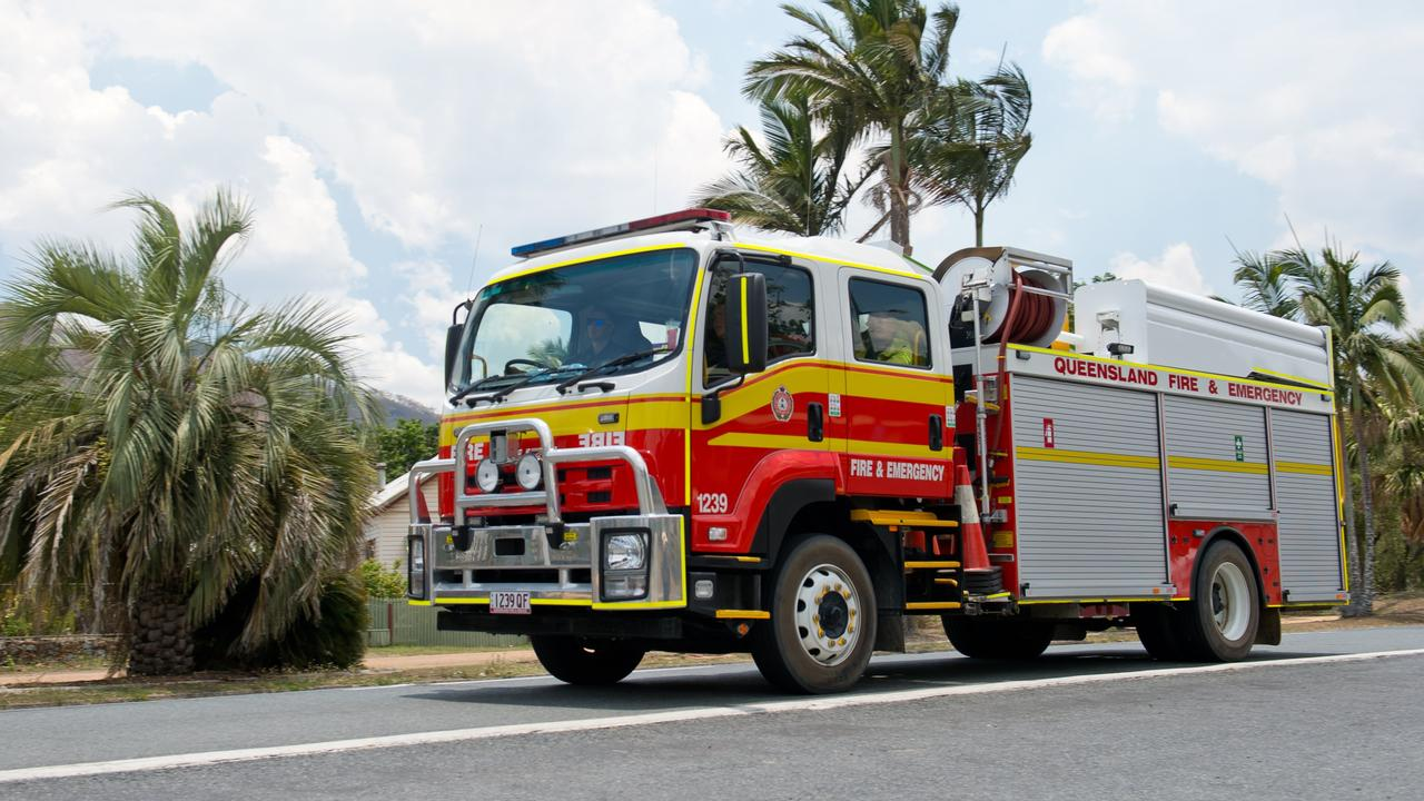 Queensland Fire and Emergency Services were called to a house fire on the Sunshine Coast.