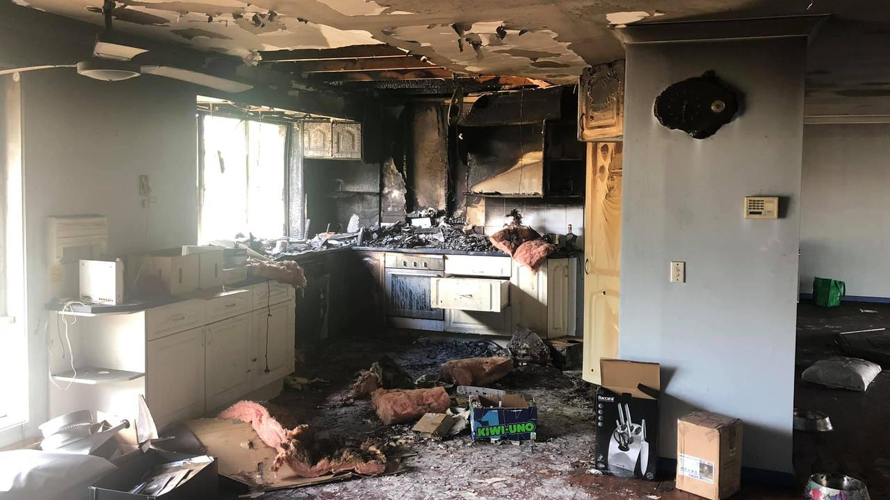 The inside of the house, which has now been demolished at the Loganholme property, after a fire in February last year.