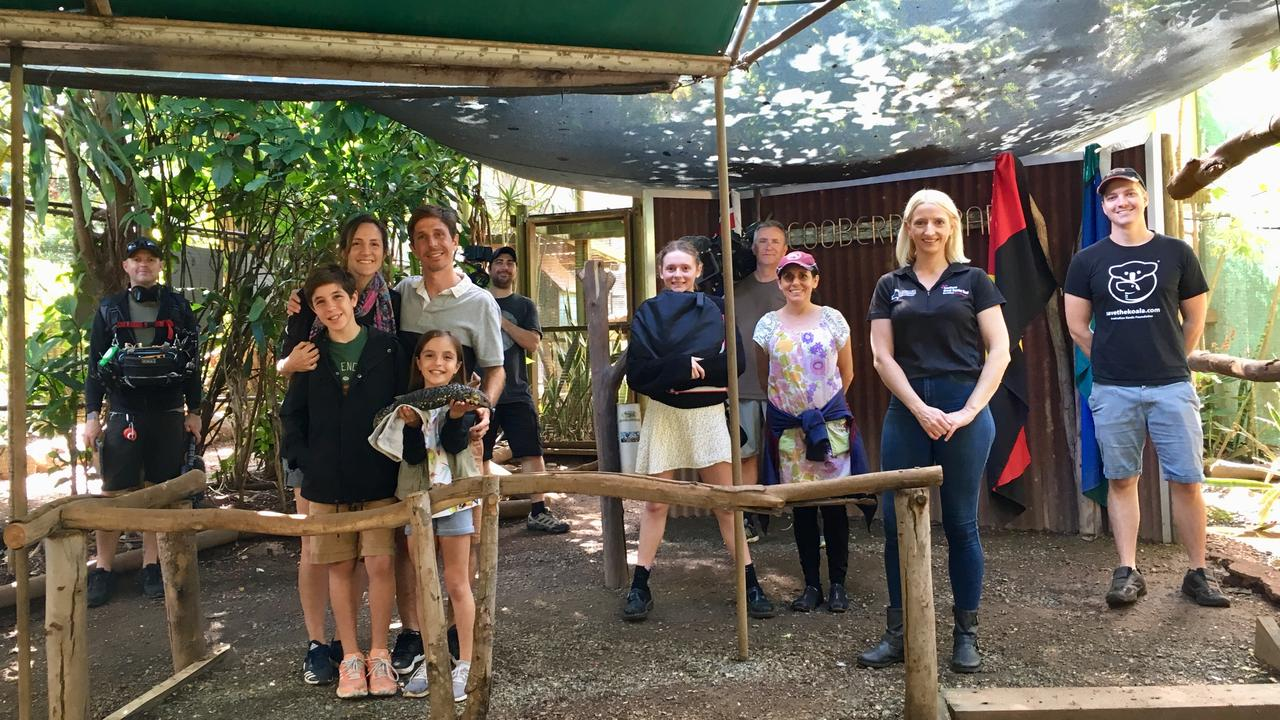 Argentinian family Geri, Santi and their two children Mattia and Francesca at Cooberrie Park Wildlife Sanctuary.