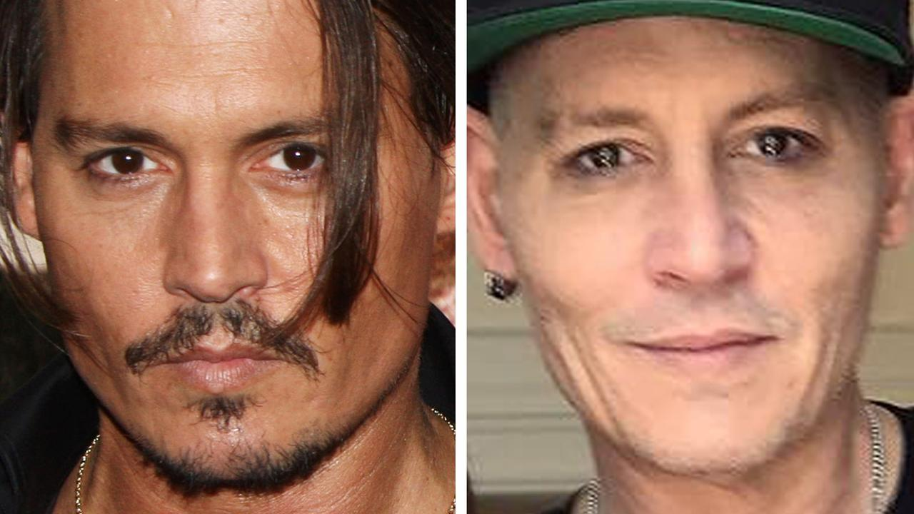 Johnny Depp in 2009 and 2018.
