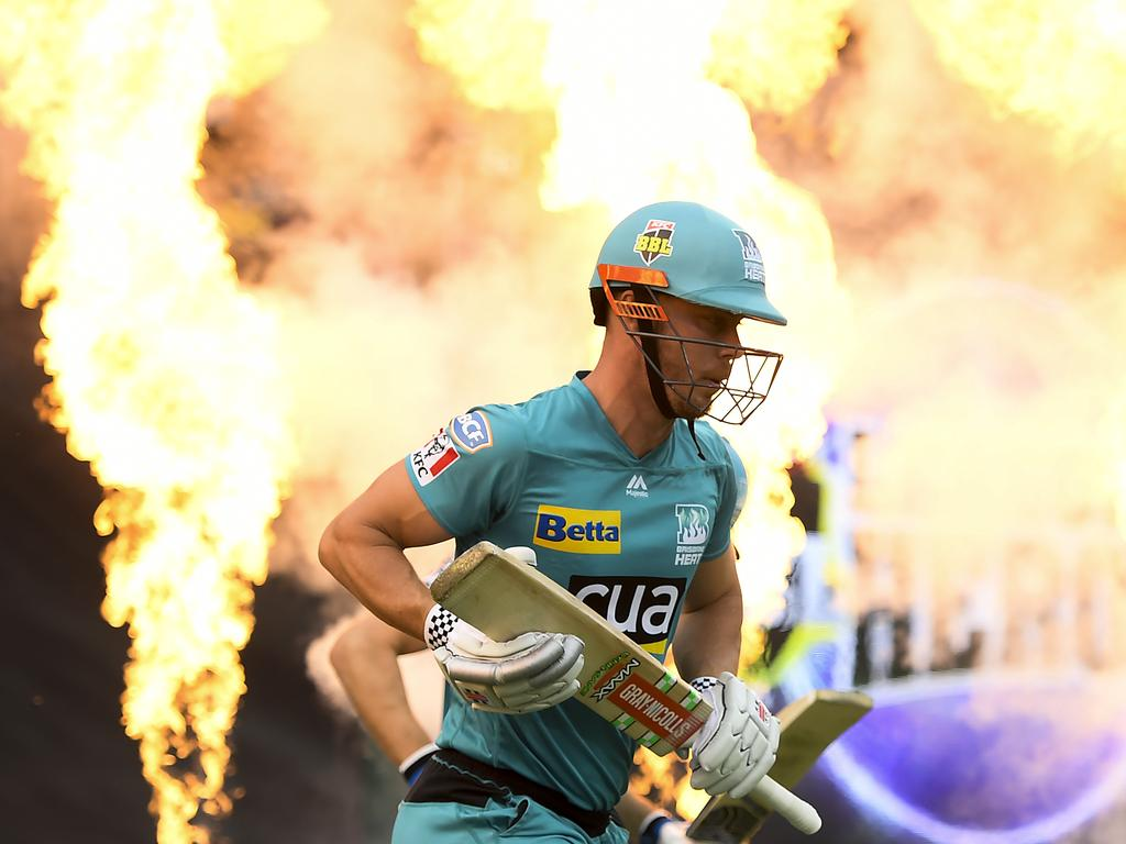 Chris Lynn has played 77 BBL matches for the Brisbane Heat.