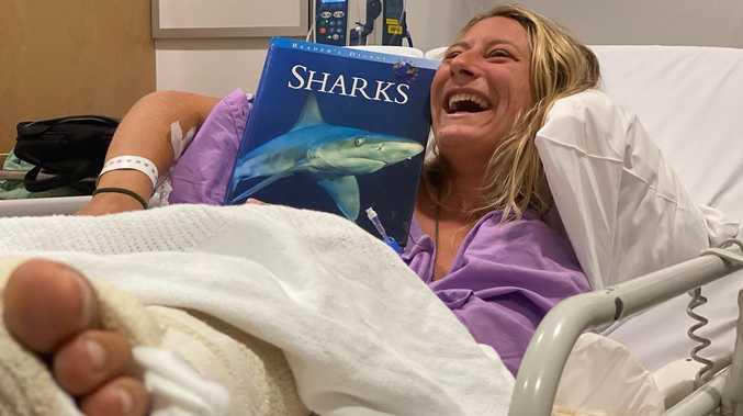 Shark attack victim in good spirits despite surgery