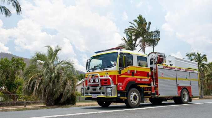 Emergency crews rush to fire near school