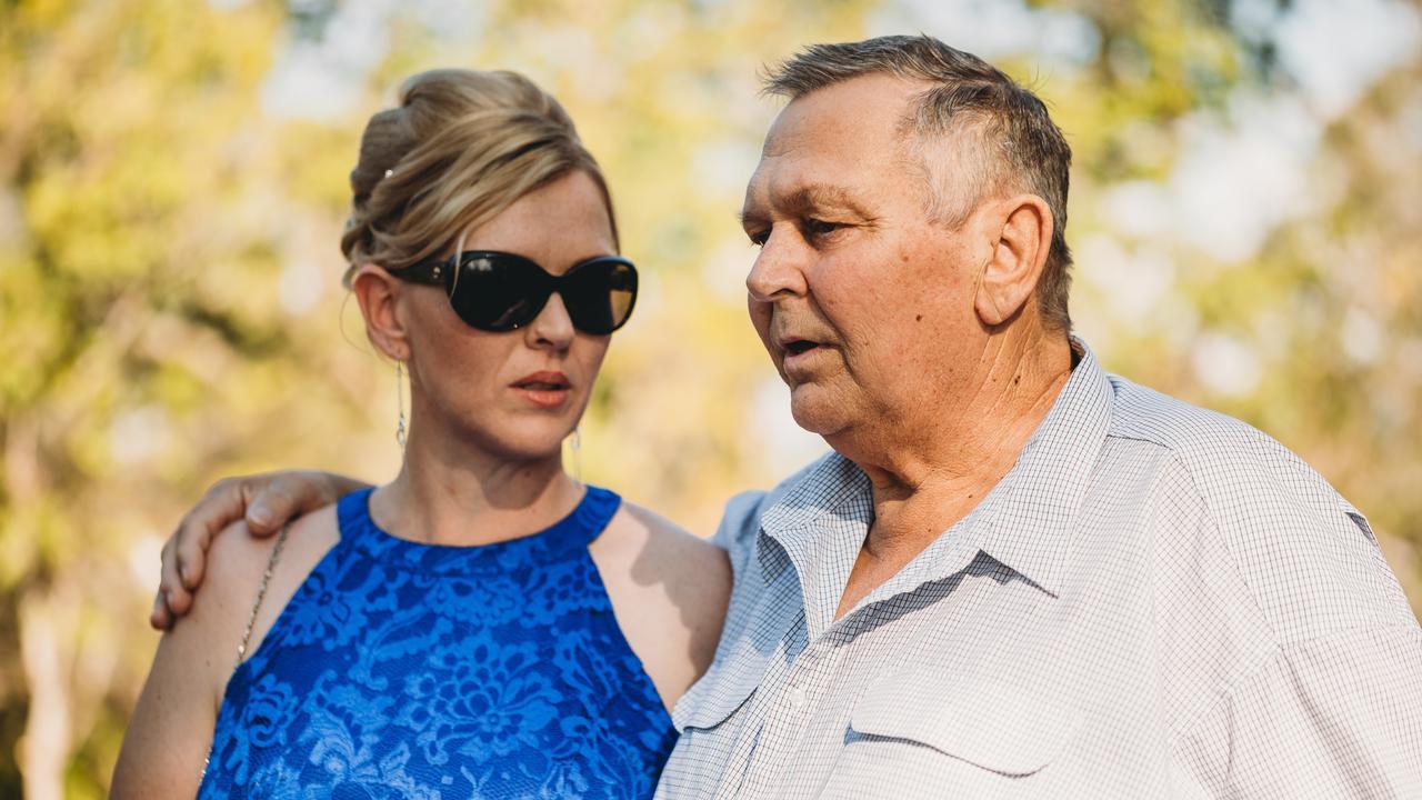 Kylie Kajewski with her father and former Lockyer Valley Fish Restocking Association president Kevin Balke.