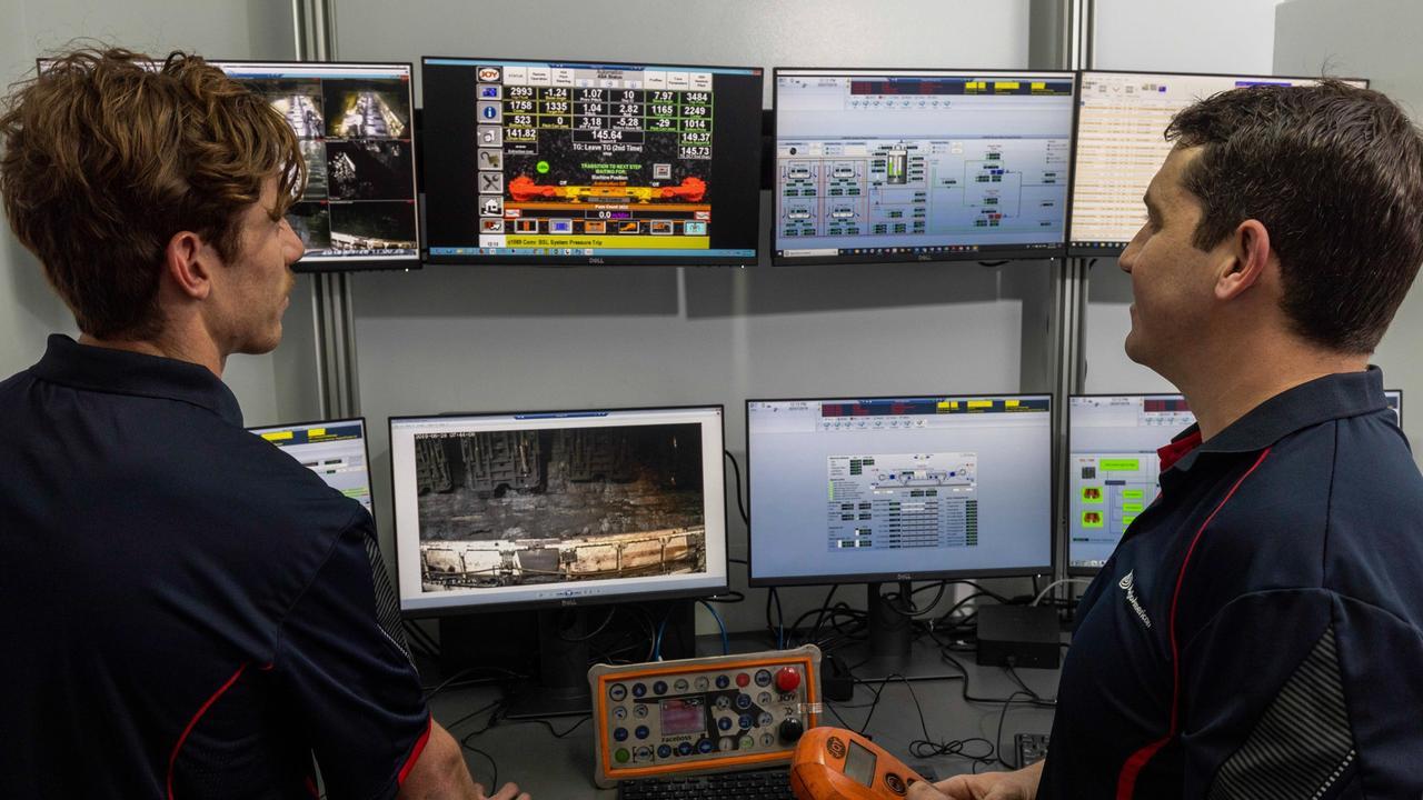 The remote operation centre at Grosvenor Mine. Picture: Glenn Hunt