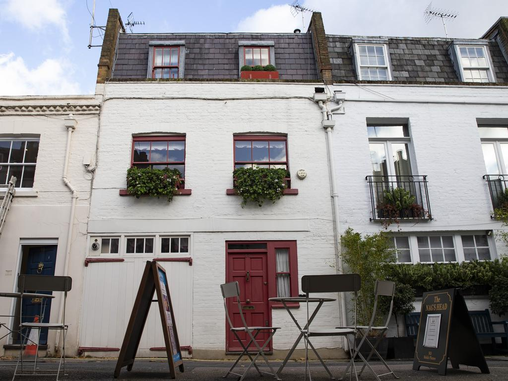 Jeffrey Epstein Associate Ghislaine Maxwell's Belgravia, London property. She has three passports and is considered a flight risk. Picture: Getty Images