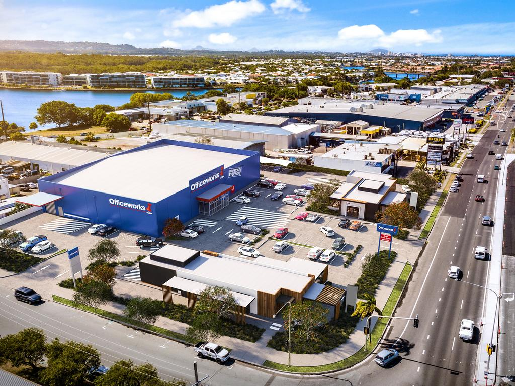 Office Works have committed to being the anchor tenant on the new retail development on the corner of Nicklin Way and Production Ave at Warana.