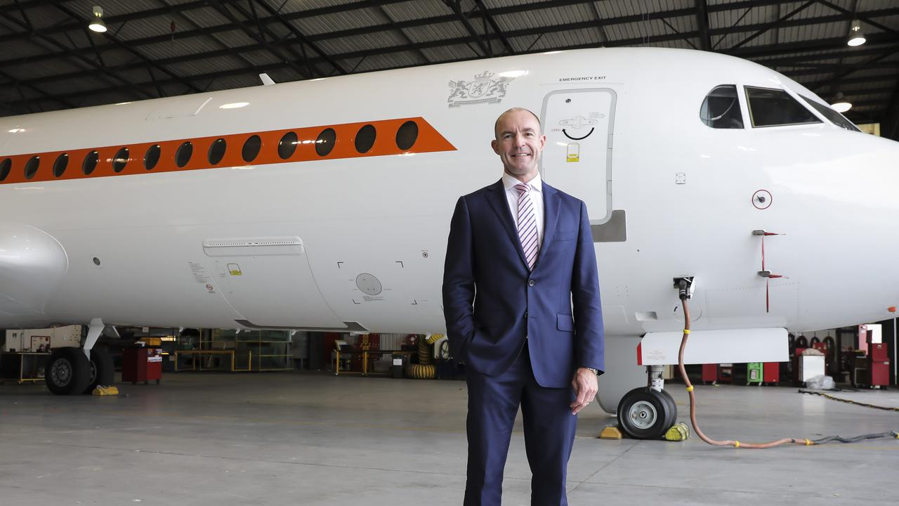 Alliance Airlines boss Lee Schofield built the small charter business into a thriving airline boasting the biggest fleet of Fokker jets in the world. Photo Mark Cranitch.