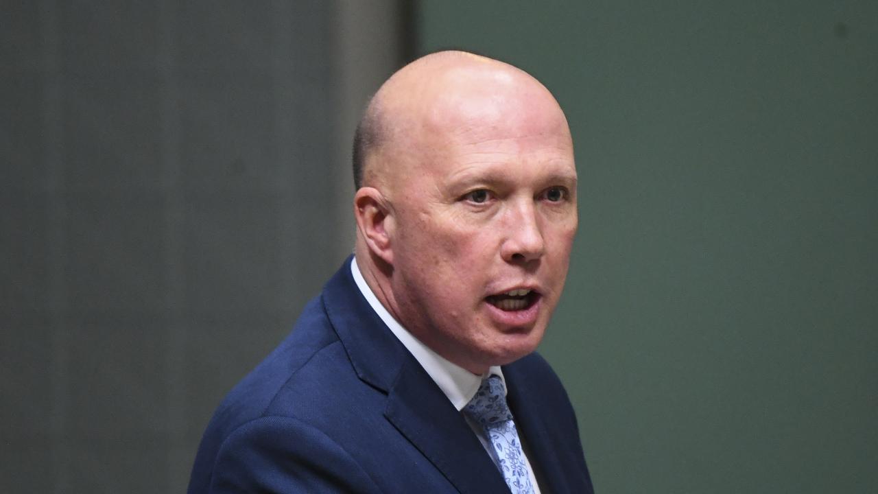 Australian Home Affairs Minister Peter Dutton. (AAP Image/Lukas Coch)