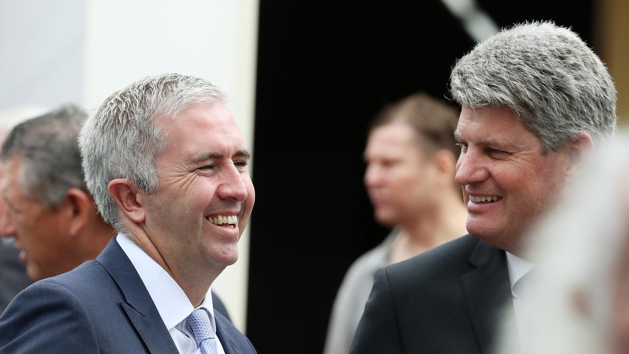 Senator Anthony Chisholm and Minister Stirling Hinchliffe. Photographer: Liam Kidston.