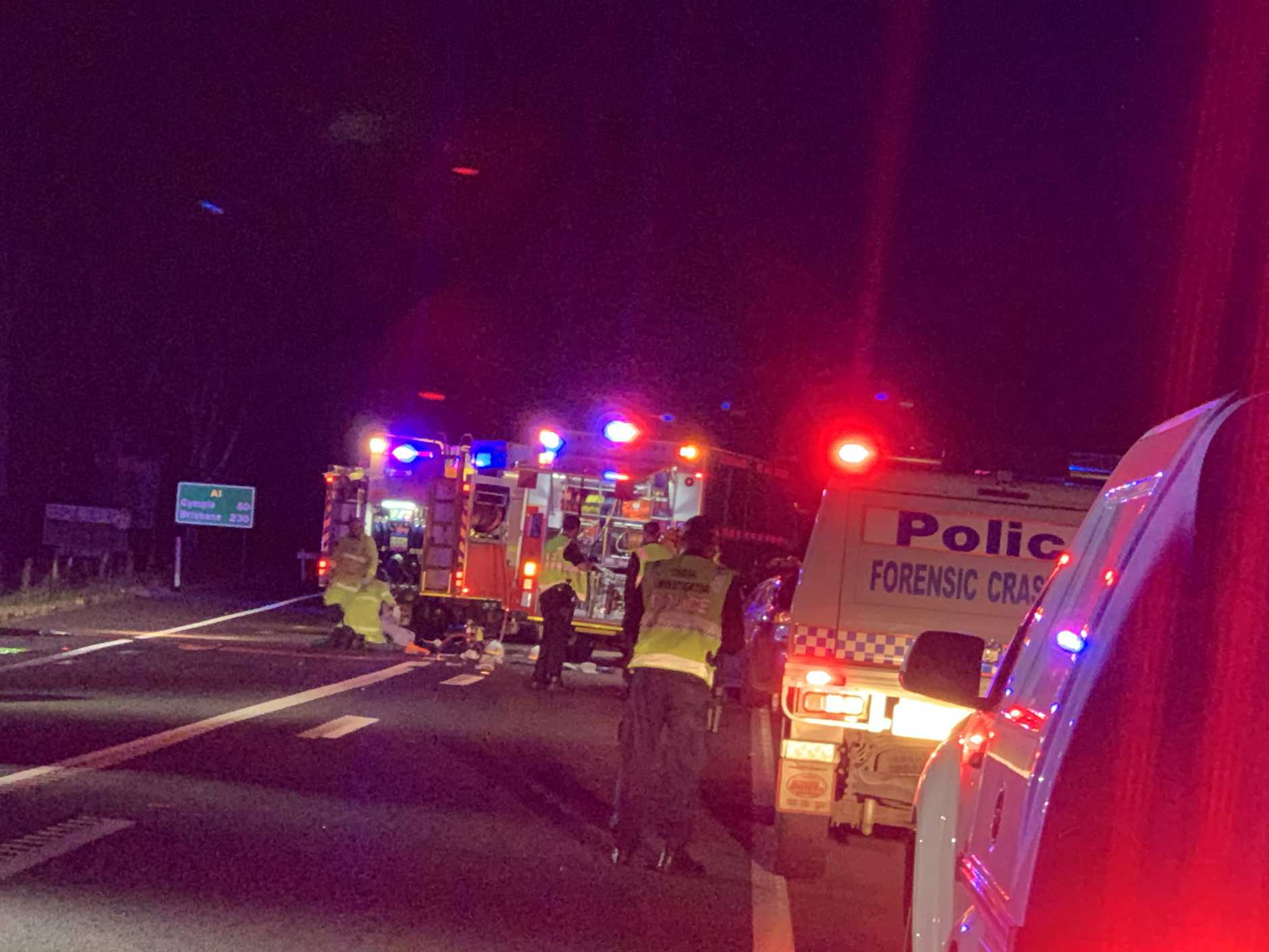 Several people have been injured in a serious crash at Tiaro.