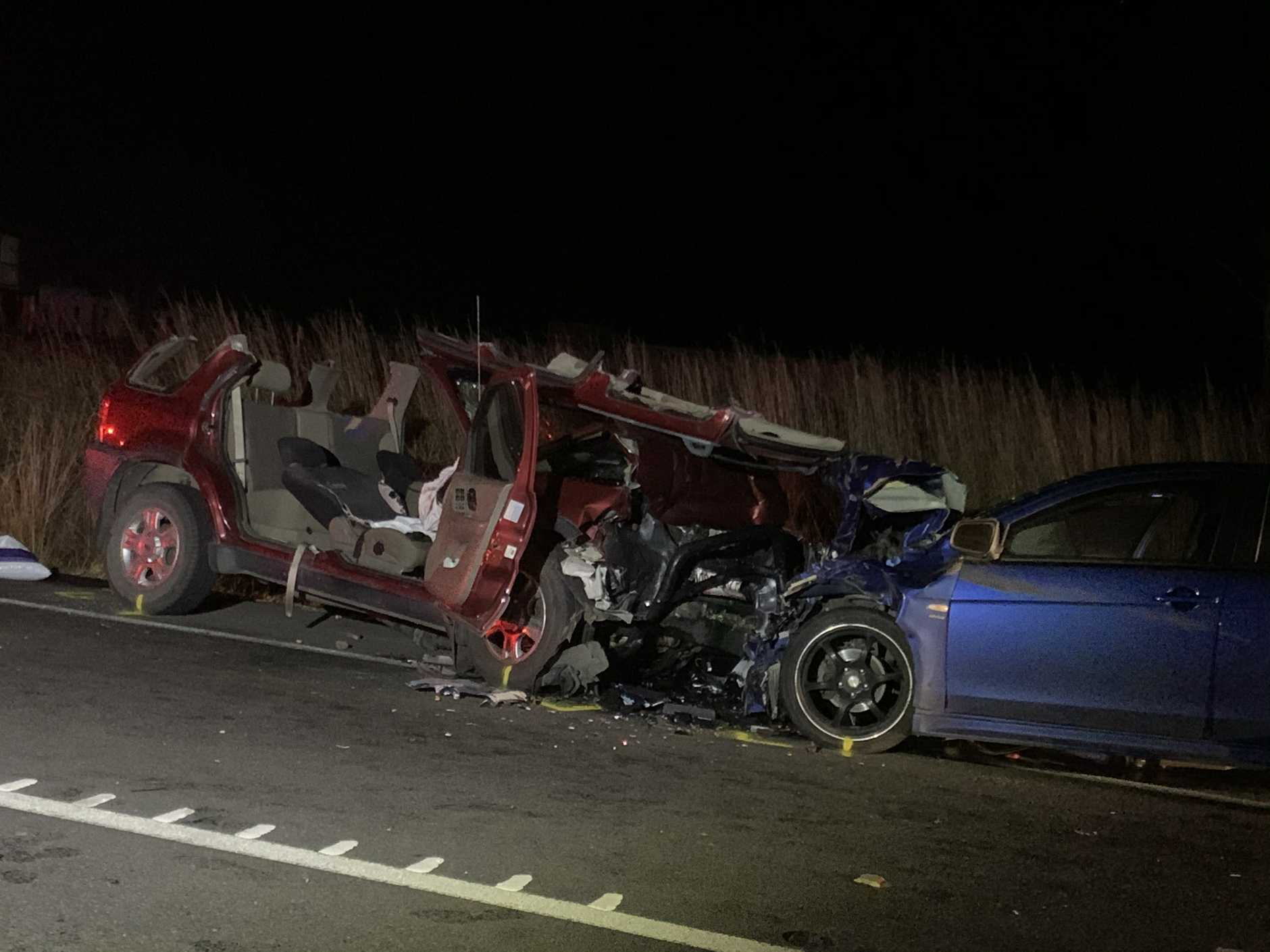 One person has been critically injured and another seriously injured in a crash at Tiaro.