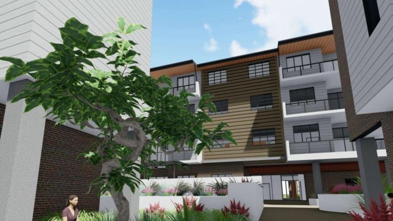 A developer plans to build a 93-bed retirement facility and separate 25-unit retirement facility on a block in Beerwah, nearby the train station. Pictured is a concept design of a communal area.