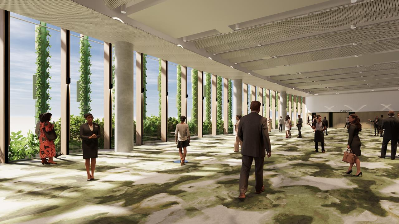 The new exhibition space features floor-to-ceiling glass windows to flood the room with natural light. PICTURE: SUPPLIED