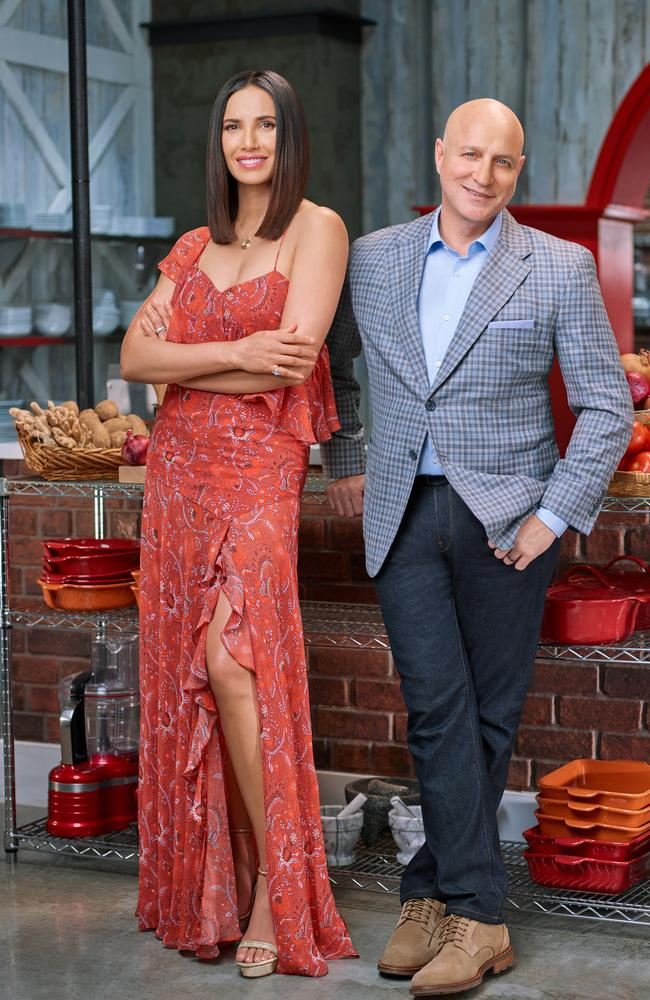 Padma Lakshmi and Tom Colicchio. Picture: Smallz & Raskind/Bravo