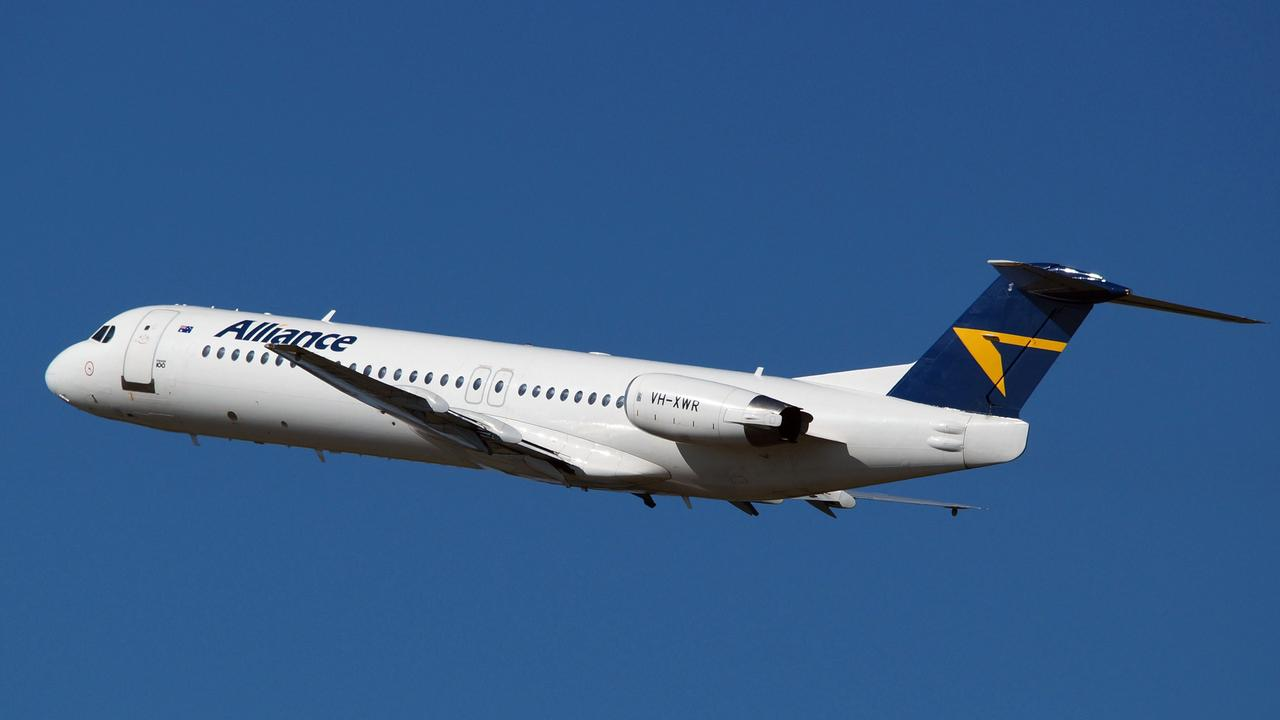 Alliance Airlines' Fokker 100 jet. Picture: SUPPLIED