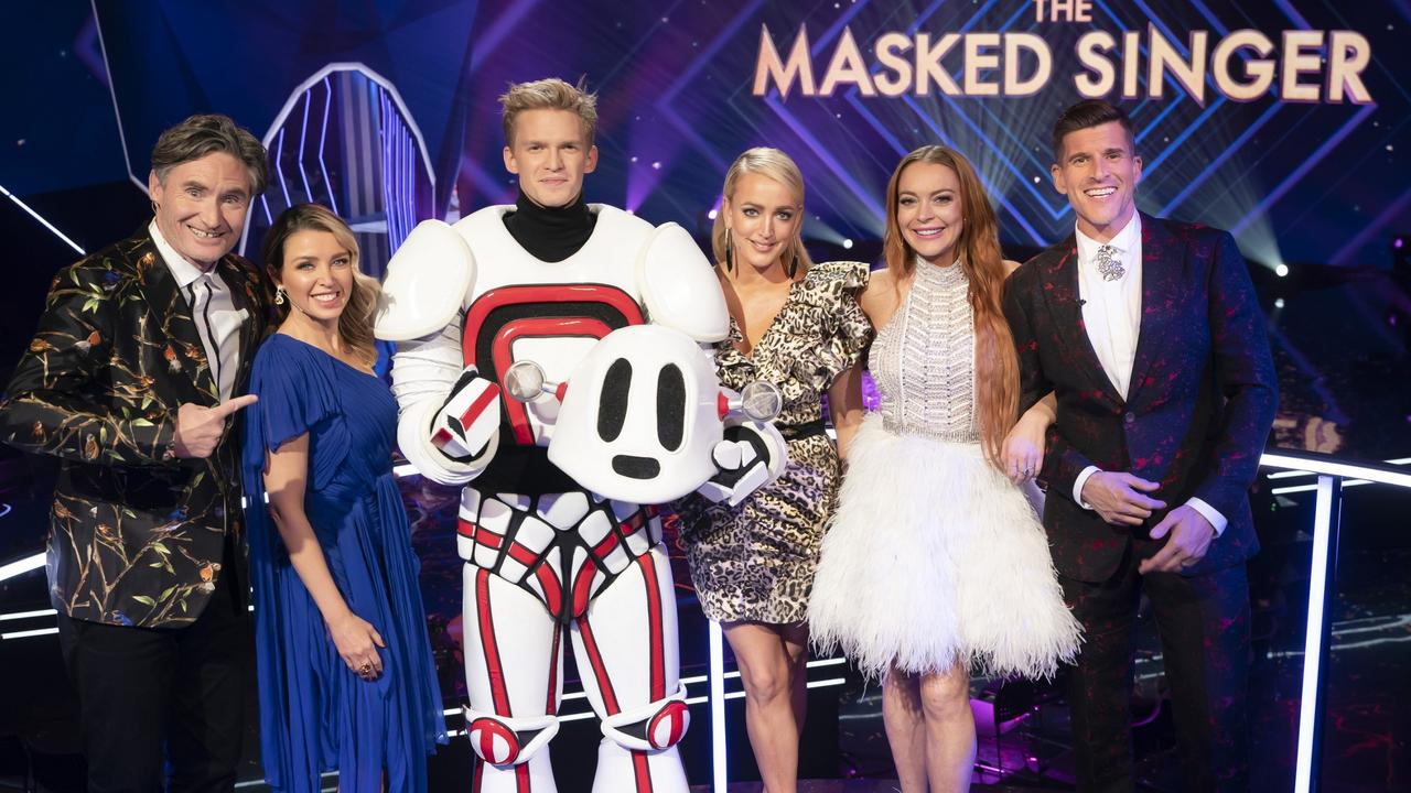 Cody Simpson won the first season of The Masked Singer Australia. Picture: Ten