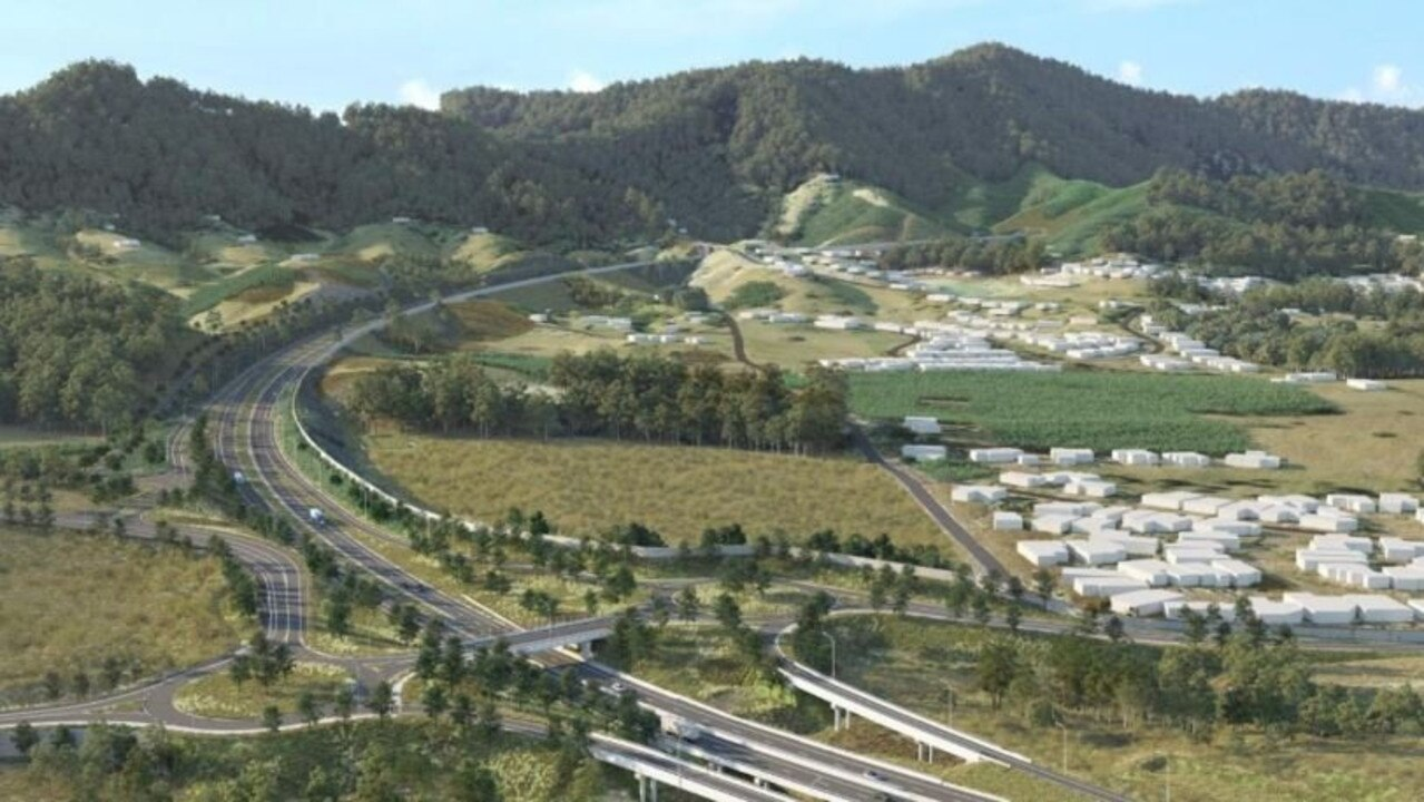 A concept drawing for the Coffs Harbour Bypass
