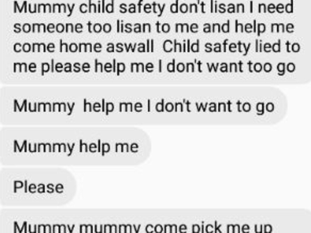 A Gold Coast teenager who was in foster care is now on the streets - this is the heartfelt message she left on Facebook messenger for her foster mum after being moved from their home.