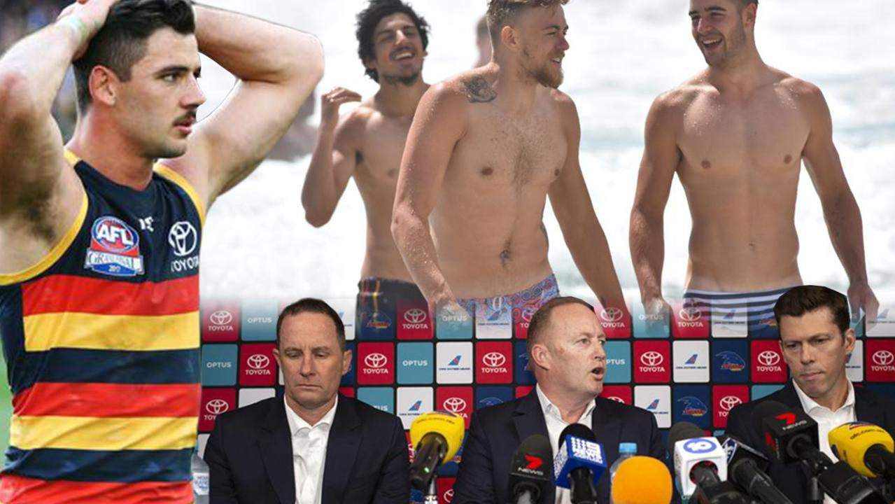 Sordid details have emerged about the toxic camp that instead of pushing the Adelaide Crows to a Grand final, has pushed them into AFL oblivion.