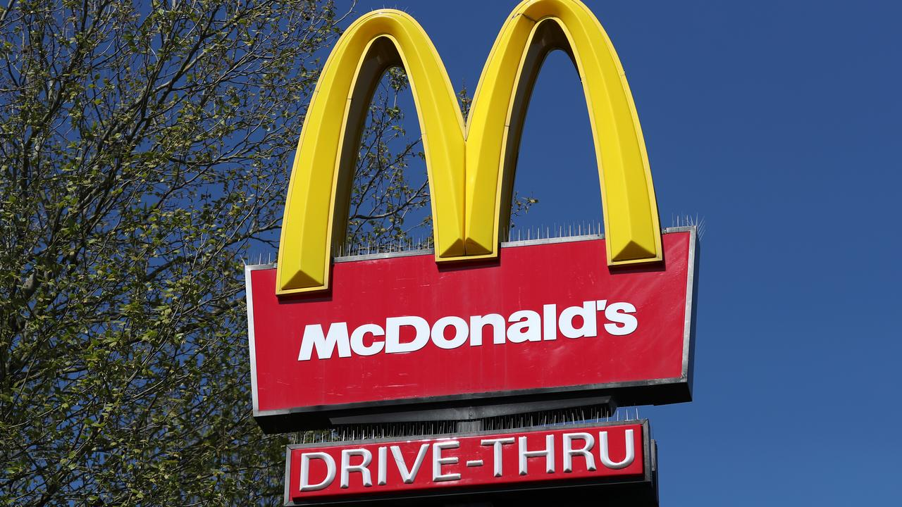 Daniel Pope ploughed down a McDonald's sign after his hand cramped up at the wheel.
