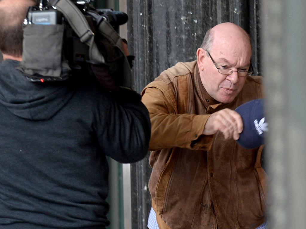 Tony Whale arrives at Downing Centre charged with using a carriage service to procure a person under 16 years for sex. Picture: NCA NewsWire / Jeremy Piper