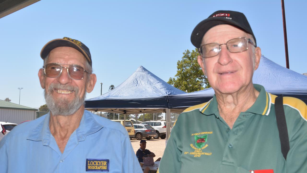 Malcolm Kirk and Geoff Adcock. Lockyer Woodcrafters Open Day and 13th birthday in 2019.