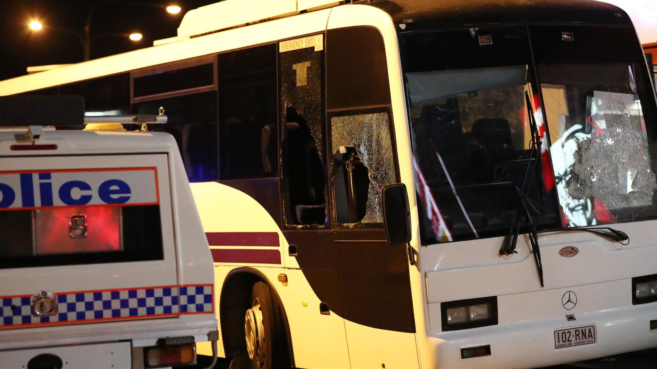 A 60 seater bus was stolen in Townsville late last year. Picture: Alix Sweeney