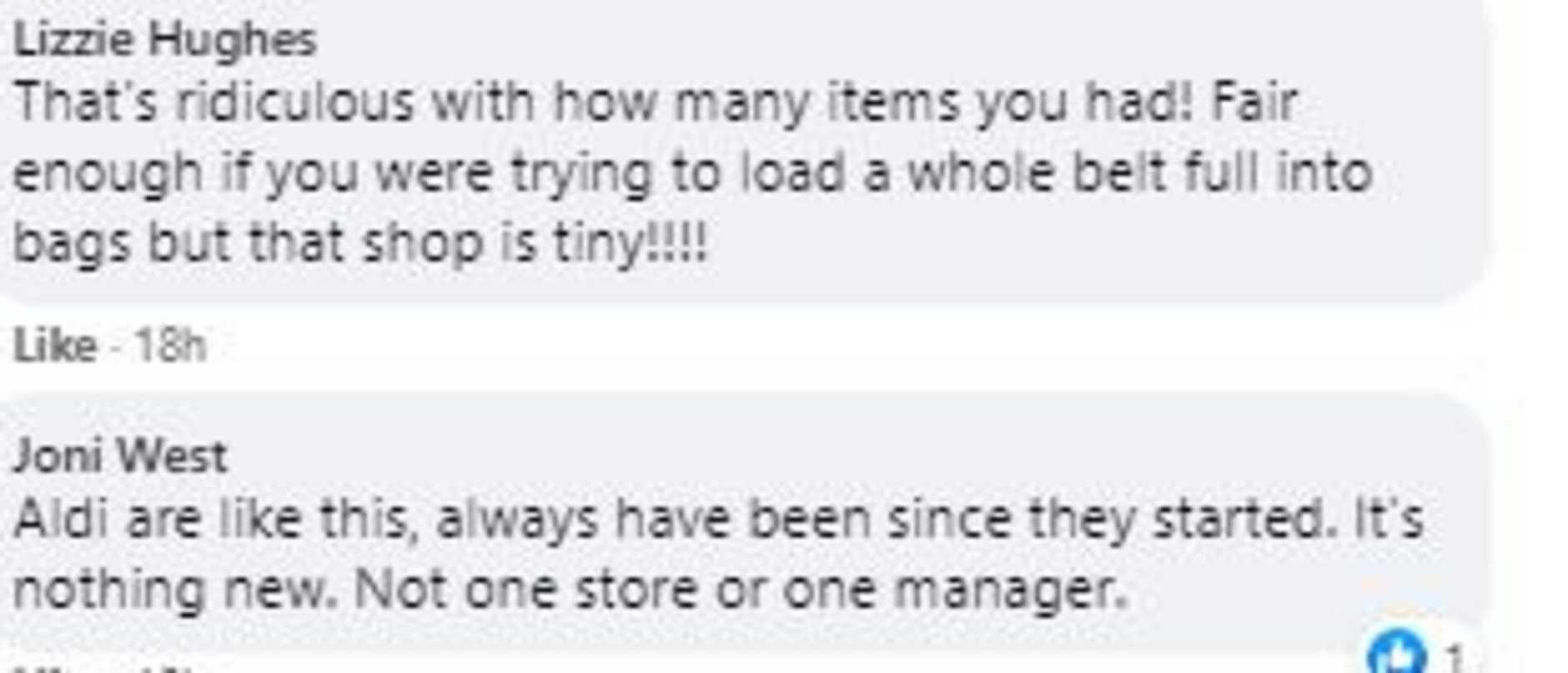 The suggestion left fellow Aldi shoppers furious. Picture: Facebook/AldiMums