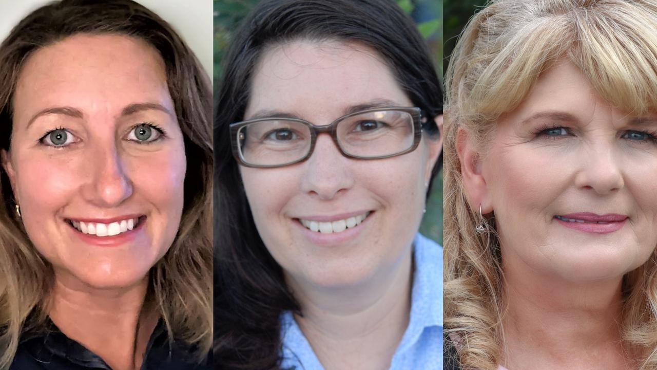 Isaac Regional Council division eight candidates Vivienne Coleman, Jennifer Ennis and Karen Hindle ran in the 2020 council elections.