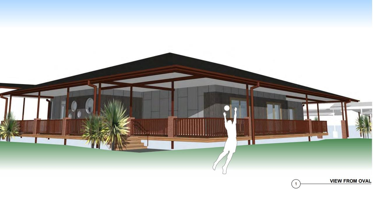 An artistic impression of what the new building at the Ballina school would look like.