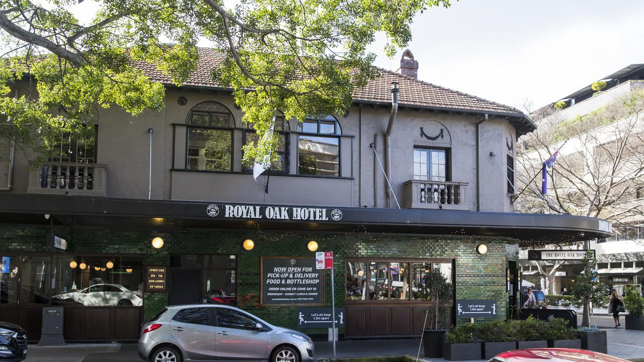 The Royal Oak Hotel in Double Bay. Picture: Dylan Robinson