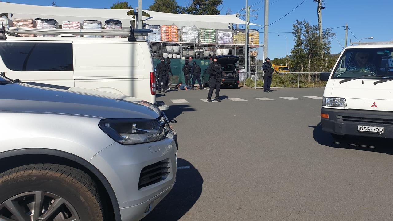 NSW Police have made an arrest at Bunnings in Byron Bay.