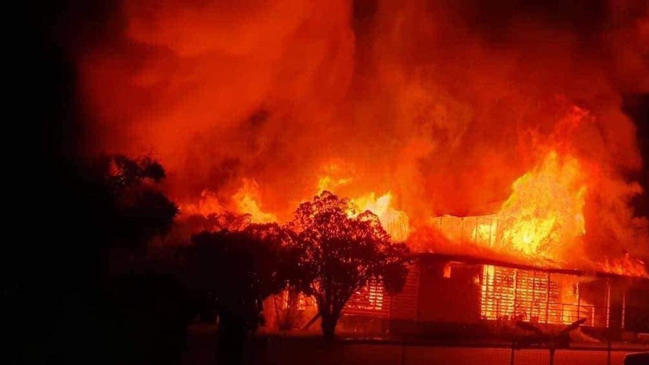 UP IN FLAMES: St Mary's Catholic Church ablaze. Photo: Marie McAneney