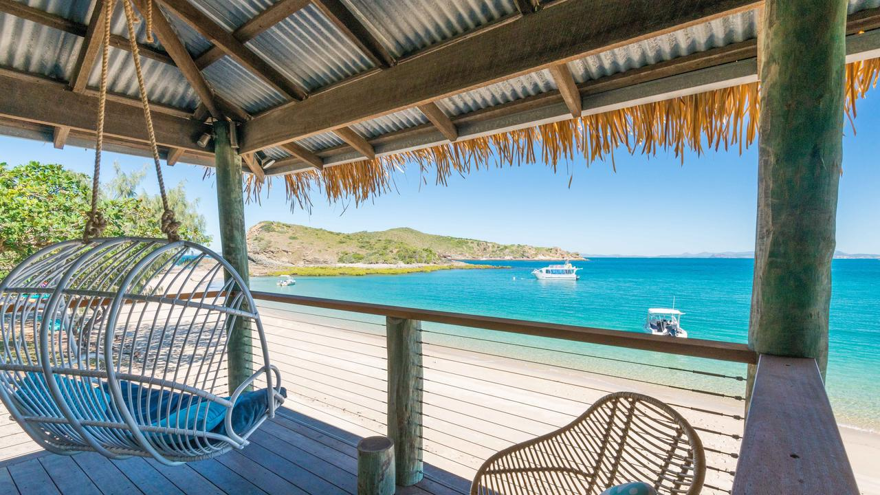 The award-winning eco resort offers stunning views of the waters of the Great Barrier Reef.