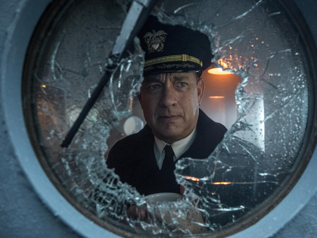 Scene from Greyhound starring Tom Hanks. Picture: Supplied