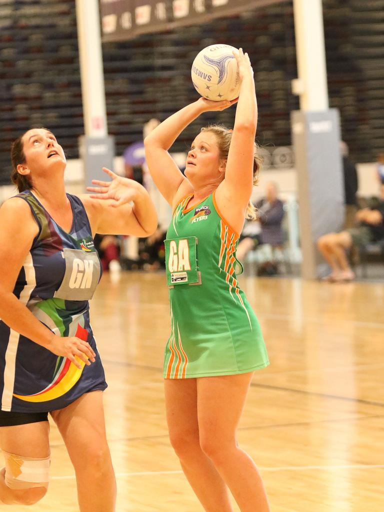 Ipswich Flyers netballer Emilie McInally.