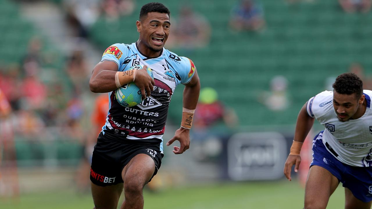 Ronaldo Mulitalo will make his return from injury for the Sharks. Picture: AAP.