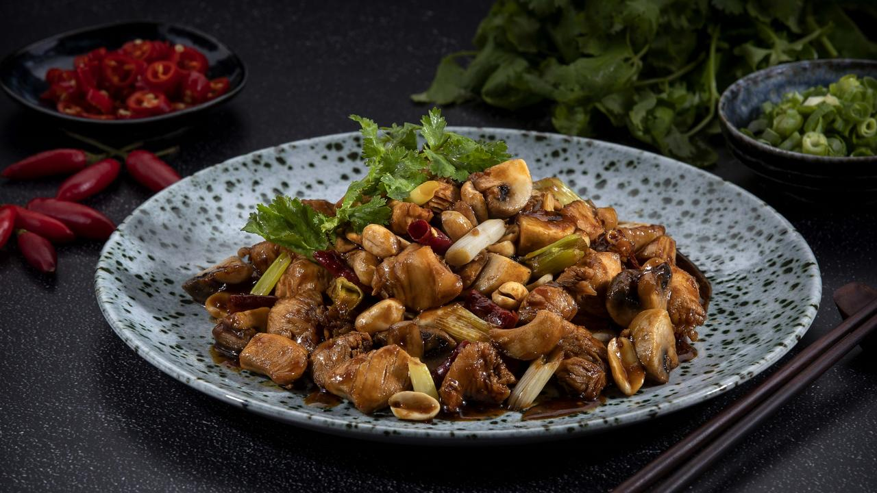 Kung pao chicken at Mei Wei Dumplings at Treasury Brisbane in the CBD.