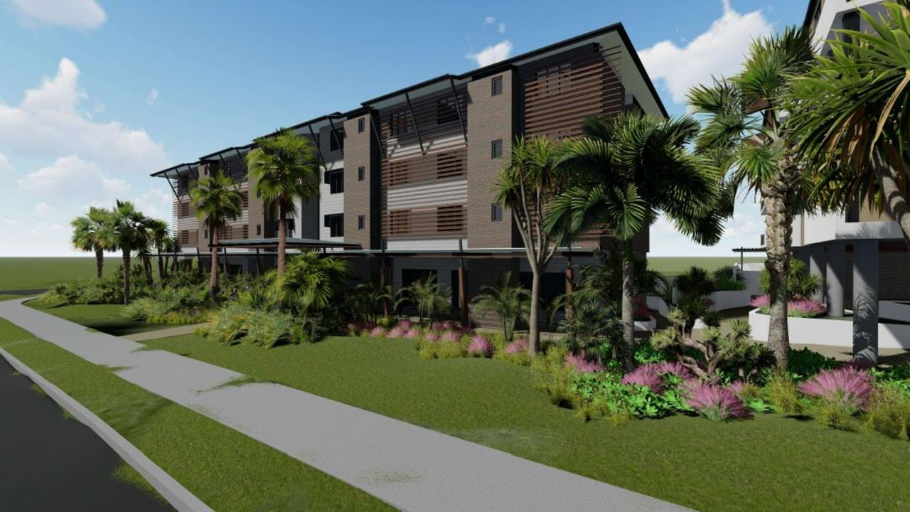 A developer plans to build a 93-bed retirement facility and separate 25-unit retirement facility on a block in Beerwah, nearby the train station. Pictured is a concept design of the proposed aged-care facility.