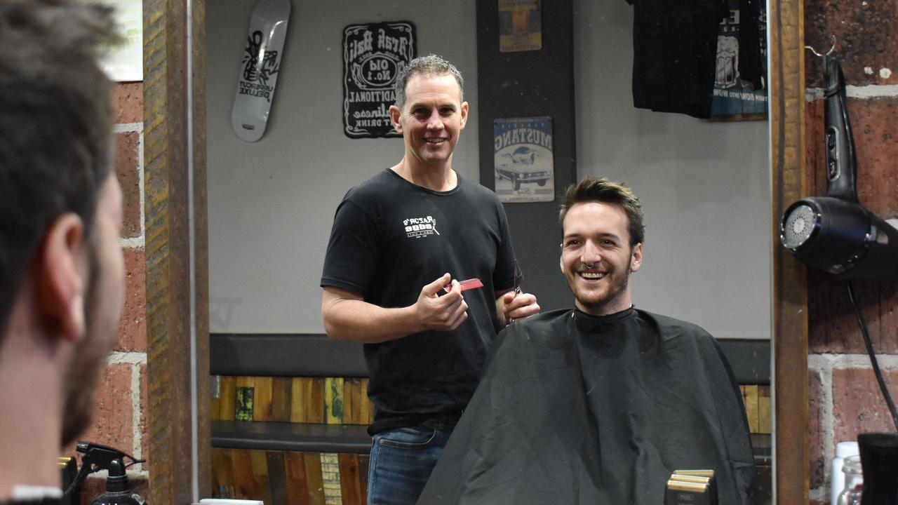 Razor's Edge Mens Cuts owner Darren Purdy was voted as Mackay's best barber for 2020. The third generation mens' hairdresser showed off his skills to fellow barber Mattie Holmes.