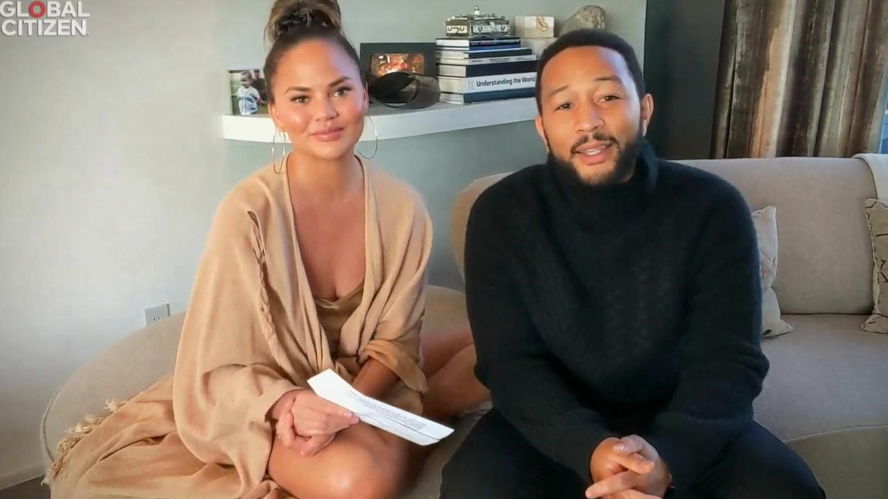 Chrissy Teigen and husband John Legend.
