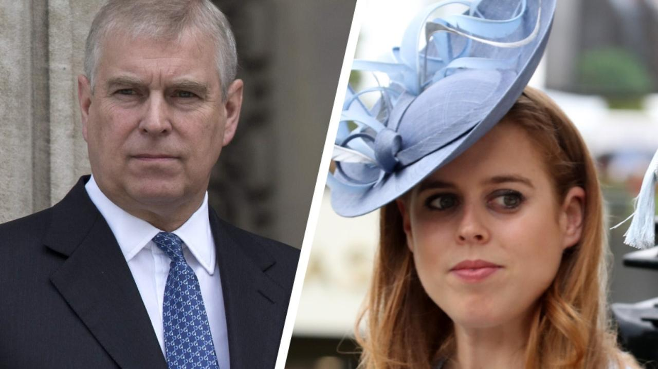 Prince Andrew and Princess Beatrice. Picture: Supplied